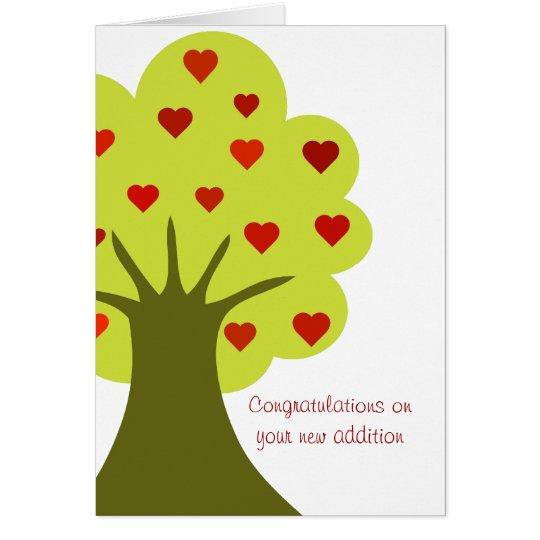 Baum der Herzen Grußkarte