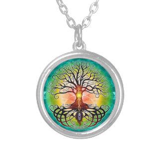Baum der Leben-Halskette Versilberte Kette