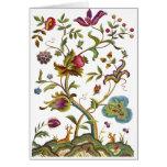 Baum der Leben-Jacobean Stickerei Karte