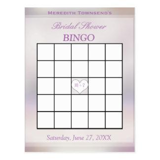 Baum des Bingo-Spiel-  des Lebens Postkarte