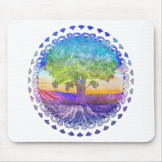 Baum des Leben-Friedens, der Liebe u. der Balance Mousepads