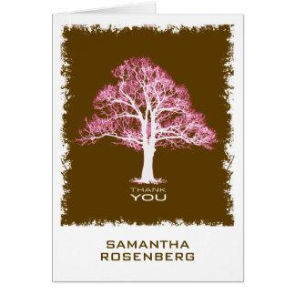 Baum des Leben-Schlägers Mitzvah danken Ihnen zu Karte