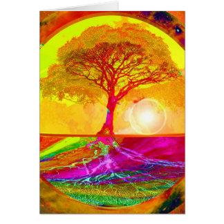Baum des Leben-Sonnenaufgangs Karte