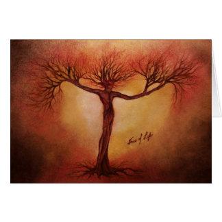 Baum des Lebens Grußkarte