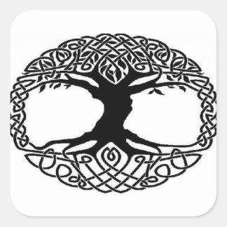 Baum des Lebens Quadratischer Aufkleber