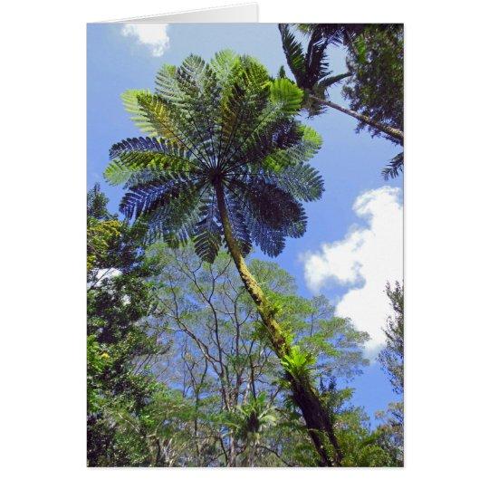 Baum-Farn Grußkarte