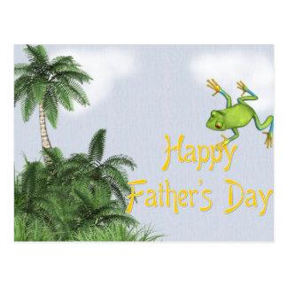 Baum-Frosch/Dschungel - der glückliche Vatertag Postkarten