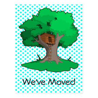 Baum-Haus-Adressenänderung Postkarte