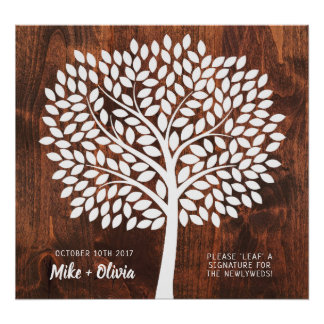 Baum-Hochzeits-Gast-Buch-Alternative | 190 Blätter Poster