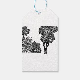Baum-Illustration Geschenkanhänger