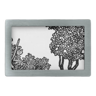 Baum-Illustration Rechteckige Gürtelschnallen