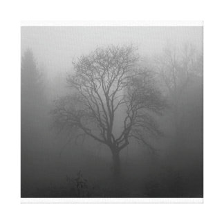 Baum im Nebel Leinwanddruck
