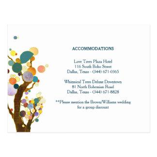 Baum-Kunst-aquamarine Postkarte