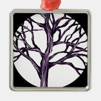 Baum-Natur gotischer Goth gespenstischer Silbernes Ornament