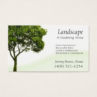 Baum-oder Rasen-Sorgfalt-Visitenkarte Visitenkarte