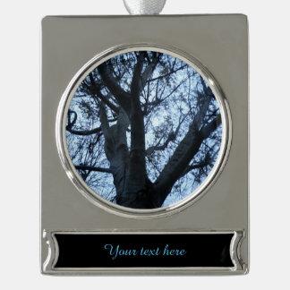Baum-Silhouette-Fotografie-Gewohnheits-Verzierung Banner-Ornament Silber