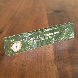 Baum-Spitzenschreibtisch-Nummernschild Namensplakette