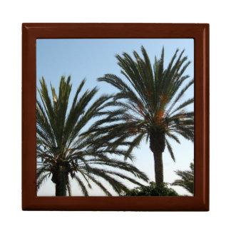 Baum-Strand-Palme-Fliesen-Geschenkboxen, goldene Geschenkbox
