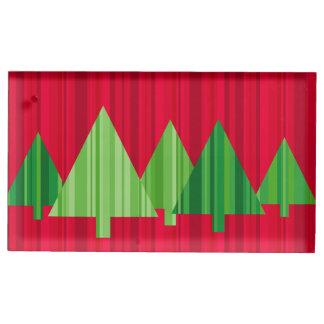 Baum Stripes WeihnachtenPlacecard Halter