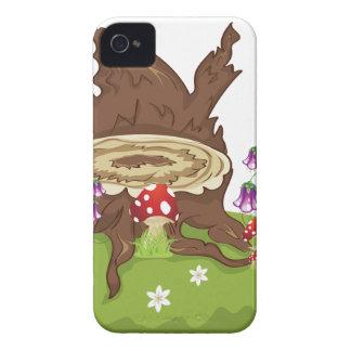Baum-Stumpf und Pilze iPhone 4 Hüllen