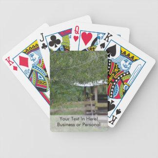 Baum und altes Scheunenflorida-Foto Bicycle Spielkarten