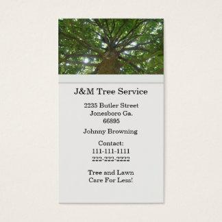 Baum-Visitenkarte Visitenkarten