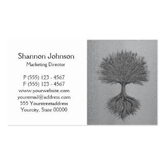 Baum von Leben-Chrom 2 Visitenkartenvorlagen