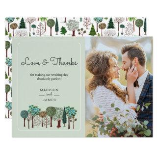 Baum-Waldwaldland | Wedding | dankt Ihnen zu Karte