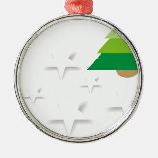 Baum Weihnachten Sterne, bezaubernder Winte Silbernes Ornament