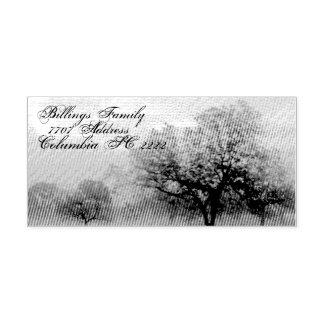 Bäume der Adressen-Selbsttinten-GummiBriefmarke Permastempel