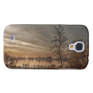 Bäume durch den klaren starken Fall des See-2 Galaxy S4 Hülle