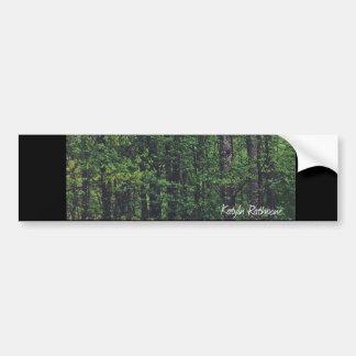 Bäume über uns autoaufkleber