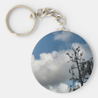 Bäume und Wolken Schlüsselanhänger