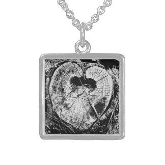 Baumherz treeheart Klein Sterling Silber Halskette