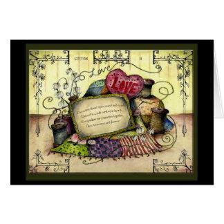 Baumwoll2 Jahr Hochzeitstag-Geschenkkarte