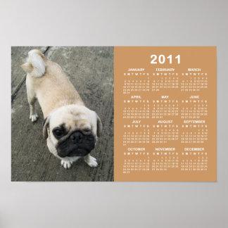 Bauwk… Kalender des Mops-Hund2011 Poster