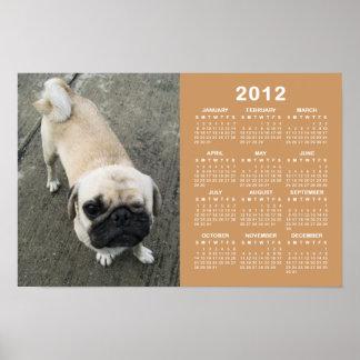 Bauwk… Kalender des Mops-Hund2012 Poster