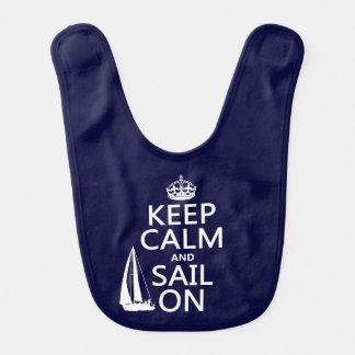 Bavoir Gardez le calme et naviguez dessus - toutes les