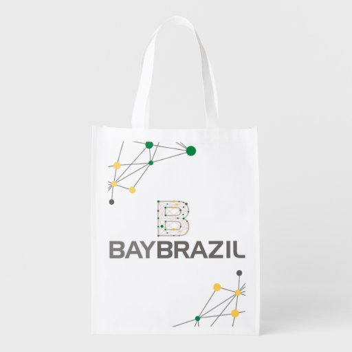 Bay Brésil Sac Réutilisable Sacs D'épicerie Réutilisables