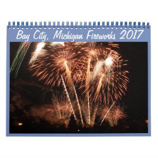 Bay-City, Michigan Feuerwerks-(Kalender 2017) 2018 Kalender