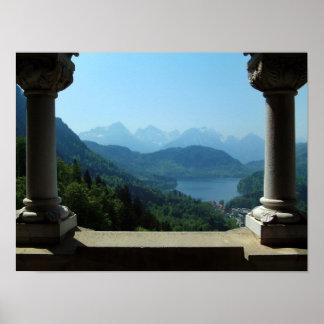 Bayerische Alpen Poster