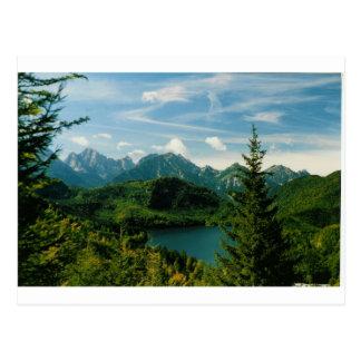 Bayerische Alpen Postkarte
