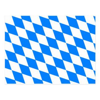 Bayerische Flagge - Bayerische Flagge Postkarte