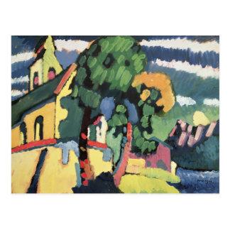 Bayerische Landschaft mit Kirche Postkarten