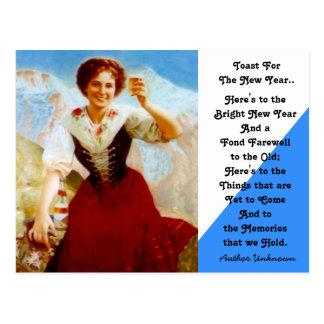 Bayerische neue Jahre Vintage Toast, diepostkarte Postkarte