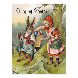 Bayerische Osterhasen-viktorianische Mädchen-Postk Postkarten