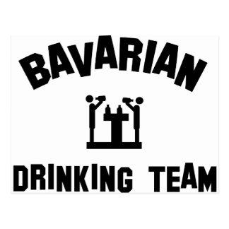 bayerisches trinkendes Team Bayern Postkarten