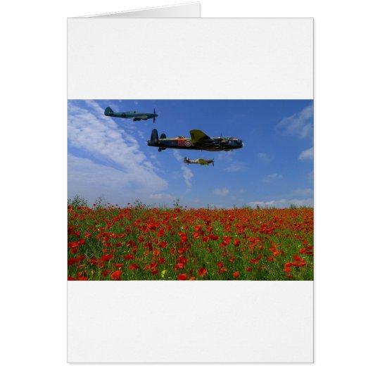 BBMF und Mohnblumen Grußkarte