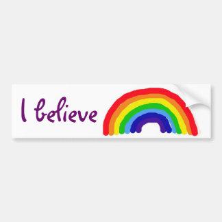 BC- glaube ich Regenbogenaufkleber Autoaufkleber