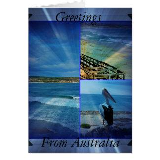 Beach_Sparkle_Collage_Small_Birthday_Greeting_Card Karte